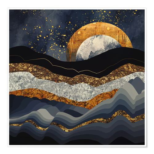 Premium poster Metallic Mountains