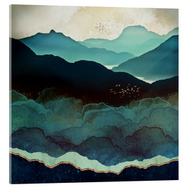 Acrylic print  Indigo Mountains - SpaceFrog Designs
