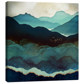Canvas  Indigo Mountains - SpaceFrog Designs