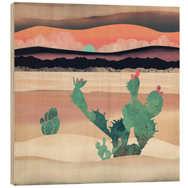 Wood print  Dawn in the desert - SpaceFrog Designs