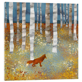 Acrylic print  Autumn Fox - SpaceFrog Designs