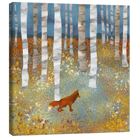 Canvas print  Autumn Fox - SpaceFrog Designs