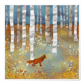 Premium poster  Autumn Fox - SpaceFrog Designs