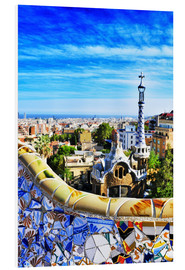 Foam board print  Park Guell in Barcelona