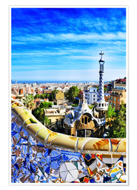 Premium poster  Park Guell in Barcelona
