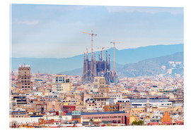 Acrylic print  Barcelona with the Cathedral of Gaudí