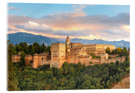 Acrylic print  Alhambra with Comares tower