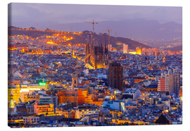 Canvas print  Aerial view of Barcelona