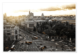 Premium poster The city of Madrid in Spain