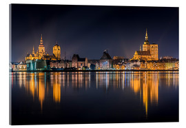 Acrylic print  Skyline of Stralsund at night - Kristian Goretzki