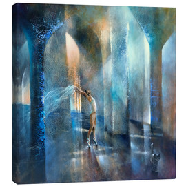 Canvas print  cat and dancer - Annette Schmucker
