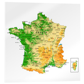 Acrylic print  Map of France