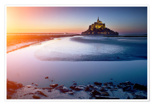 Premium poster Mont Saint Michel in Normandy