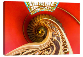 Canvas print  Spiral staircase in Brittany