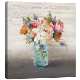Canvas print  French Cottage Bouquet II - Danhui Nai