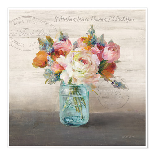 Premium poster French Cottage Bouquet II