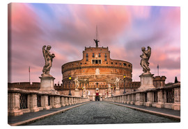 Canvas print  Ponte Sant'Angelo and Castel Sant'Angelo