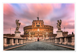 Premium poster  Ponte Sant'Angelo and Castel Sant'Angelo