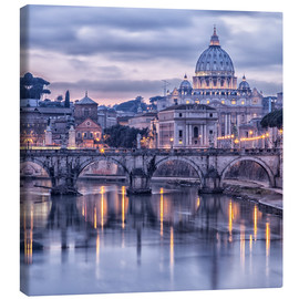 Canvas print  Rome at dusk