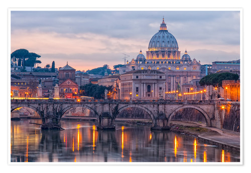 Premium poster The Basilica of the Vatican of St. Peter