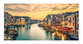 Premium poster Grand Canal at the blue hour