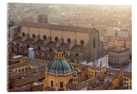 Acrylic print  Historic center of Bologna