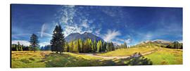 Aluminium print  360 ° mountain panorama in the Wettersteingebirge south face with Mieminger chain - Michael Rucker