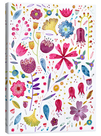 Canvas print  Summer flowers watercolor - Nic Squirrell
