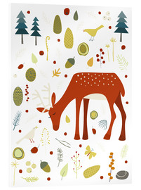 Acrylic glass  Pretty deer in the autumn forest - Nic Squirrell