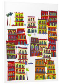 Foam board print  Colorful houses in Havana, Cuba - Nic Squirrell
