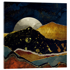 Acrylic print  Bronze Night Landscape - SpaceFrog Designs