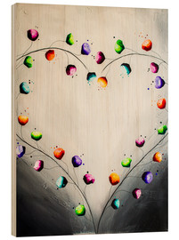 Wood print  Blooming love - Yannick Leniger