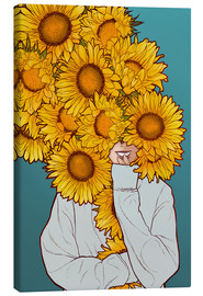 Canvas print  Happy Sunflowers - Paola Morpheus