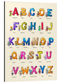 Aluminium print  English ABC for Children - Elena Schweitzer