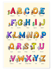 Premium poster English ABC for Children