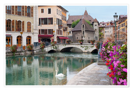 Premium poster Wonderful view of Annecy