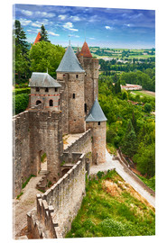 Acrylic print  Fortress Carcassonne in France, Languedoc