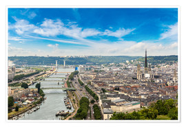Premium poster  Panoramic aerial view of Rouen