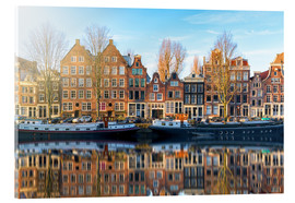 Acrylic print  Amsterdam morning reflections - George Pachantouris