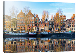 Canvas  Amsterdam morning reflections - George Pachantouris