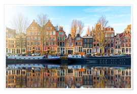 Premium poster  Amsterdam morning reflections - George Pachantouris