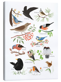 Canvas print  Garden birds (German) - Sandy Lohß