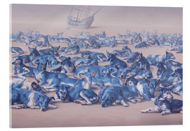 Acrylic print  blue dogs - Johnny Palacios