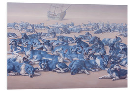 Foam board print  blue dogs - Johnny Palacios
