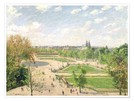 Premium poster  The Garden of the Tuileries on a Spring Morning - Camille Pissarro