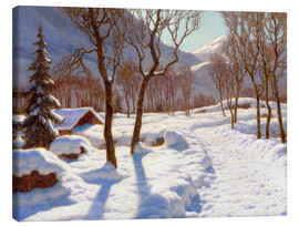 Canvas  Winter scene in the Alps - Ivan Fedorovich Choultse