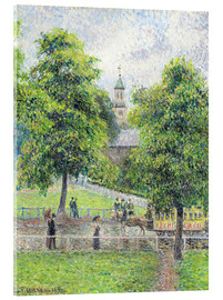 Acrylic print  Saint Anne's Church in Kew, London - Camille Pissarro