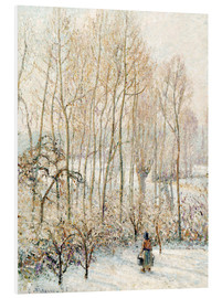 Foam board print  Morning Sunlight on the Snow - Camille Pissarro
