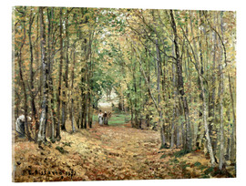 Acrylic print  The forest at Marly - Camille Pissarro
