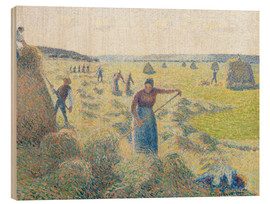 Wood print  The haymaking, Eragny - Camille Pissarro